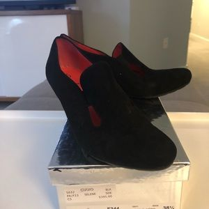 NWT Pas De Rouge loafer wedges size 38.5